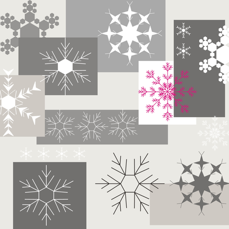 Snowflake Grey fabric by smuk on Spoonflower - custom fabric