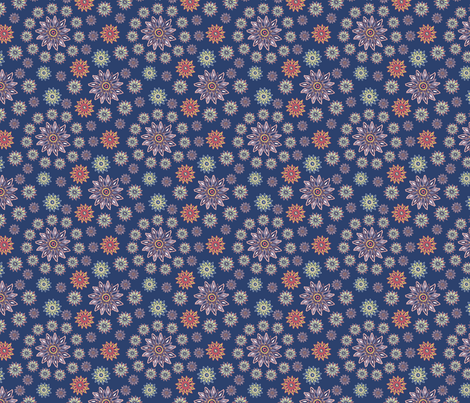 On-blue fabric by kirsten_miller on Spoonflower - custom fabric