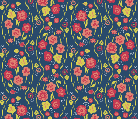 Bouquet Matisse fabric by kdl on Spoonflower - custom fabric