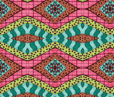 Green Zebra fabric by janaaberry on Spoonflower - custom fabric