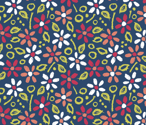 Modern Matisse Floral fabric by rosiesimons on Spoonflower - custom fabric