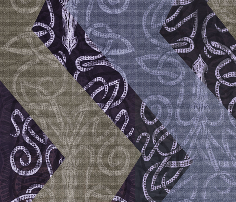 Giant Chevron Squid fabric by wren_leyland on Spoonflower - custom fabric