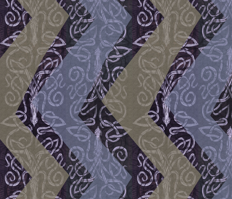Crooked Kraken Chevron - half fabric by wren_leyland on Spoonflower - custom fabric