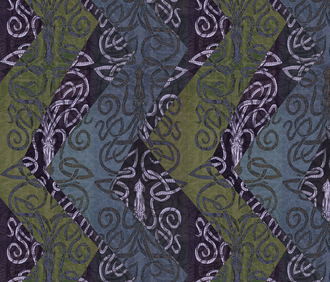 Squid Zig and Kraken Zag fabric by wren_leyland on Spoonflower - custom fabric