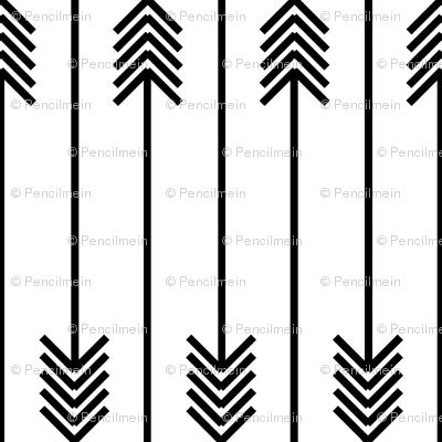 black arrows flip flop on white