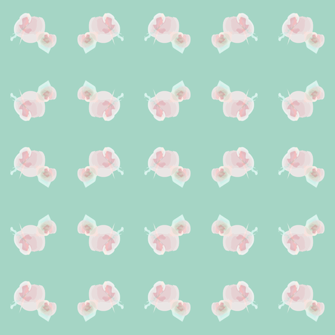 Watercolor floral teal fabric by pencilmein on Spoonflower - custom fabric