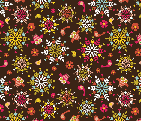 Holiday Folk Art #2 fabric by alissecourter on Spoonflower - custom fabric