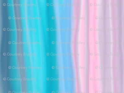 Pink/blue wash