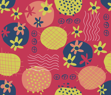 Motifs a la Matisse fabric by snowflower on Spoonflower - custom fabric