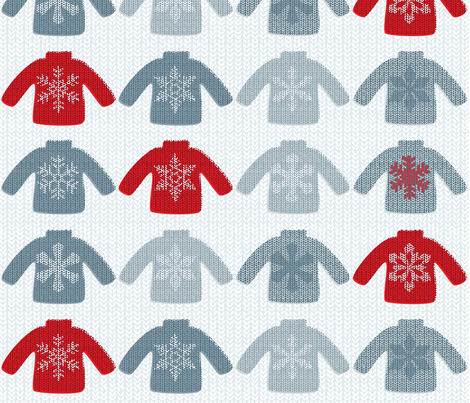 Snowflake Sweaters B fabric by jwitting on Spoonflower - custom fabric