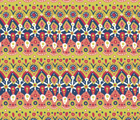 Blobblob Yay fabric by lilichi on Spoonflower - custom fabric