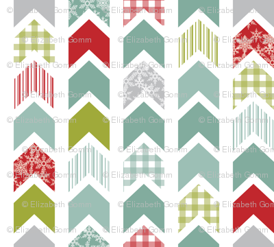 Christmas chevrons
