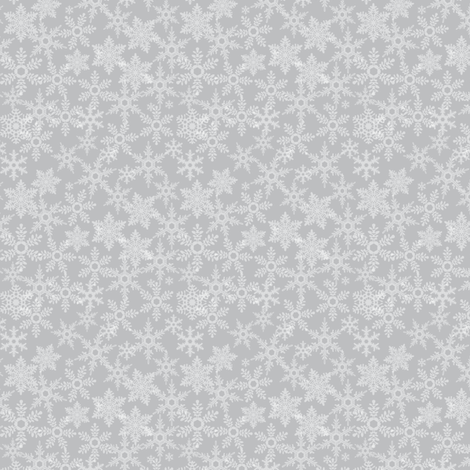 Snowflakes grey fabric by ebygomm on Spoonflower - custom fabric