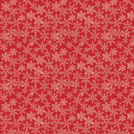 Snowflakes Red fabric by ebygomm on Spoonflower - custom fabric
