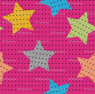 fabric_knitting_stars