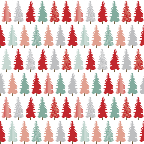 Wintery forest fabric by ebygomm on Spoonflower - custom fabric