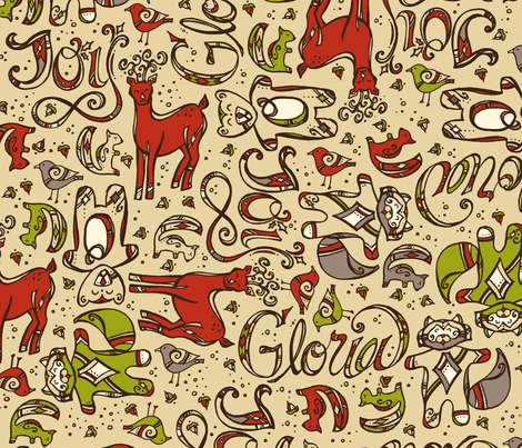 Holiday Joy! fabric by karistyle on Spoonflower - custom fabric