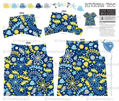 Tidal Pool Little One Yard Wonders Riviera Tee