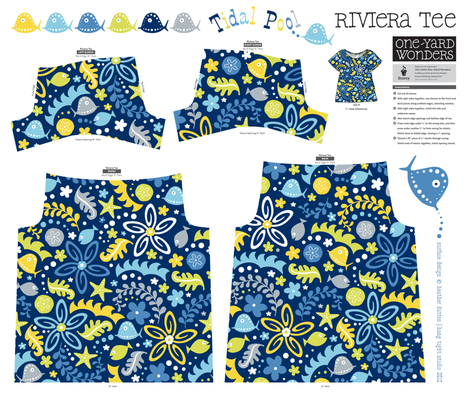 Tidal Pool Little One Yard Wonders Riviera Tee fabric by heatherdutton on Spoonflower - custom fabric