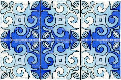 Tile Swirl Blue
