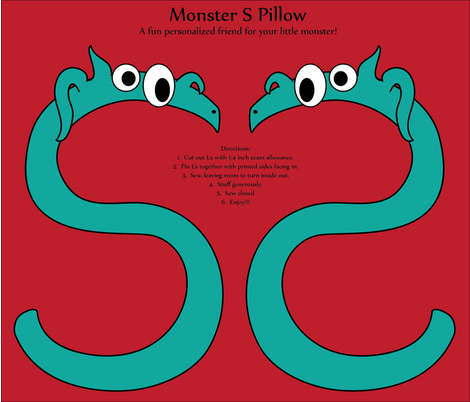 monster_S_pillow fabric by lerhyan on Spoonflower - custom fabric
