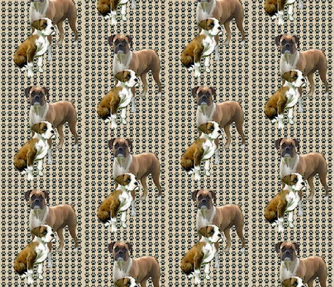 Double Trouble Boxers fabric by dogdaze_ on Spoonflower - custom fabric