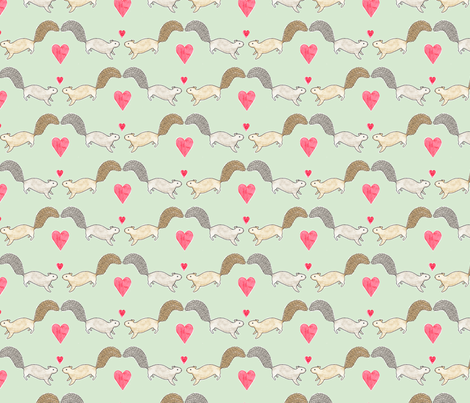 Squirrel Love fabric by siankeegan on Spoonflower - custom fabric