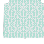 Seahorse Half-drop: Aqua on Gray