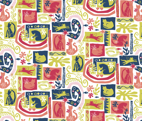 Catisse fabric by jennartdesigns on Spoonflower - custom fabric