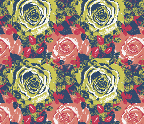 Matisse Roses fabric by twobloom on Spoonflower - custom fabric