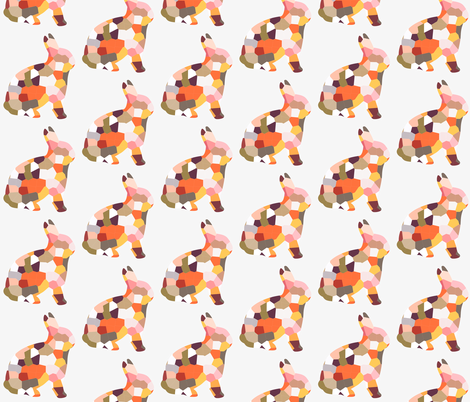 geofetti 4 rabbit fabric by nature_guild on Spoonflower - custom fabric