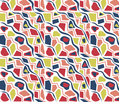 Squiggle Stripe fabric by modgeek on Spoonflower - custom fabric