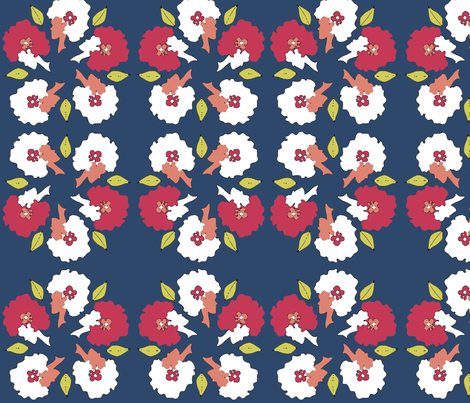 Afro_Flora_Matisse fabric by pink_koala_design on Spoonflower - custom fabric