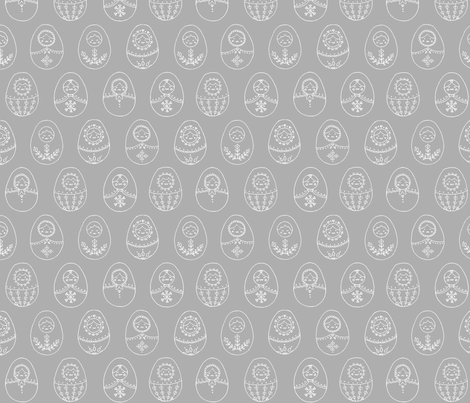Nesting Doll fabric by clevergirlstudio on Spoonflower - custom fabric