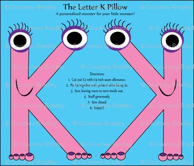 letterKpillow