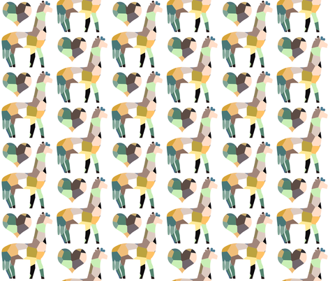whole lotta lama love fabric by nature_guild on Spoonflower - custom fabric