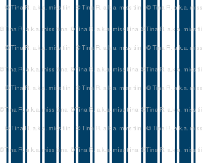 ticking stripes navy blue and white