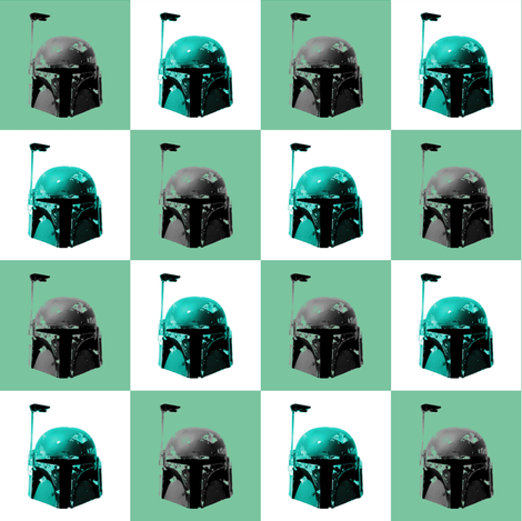 A Bounty Hunters Chequered Past fabric by smuk on Spoonflower - custom fabric