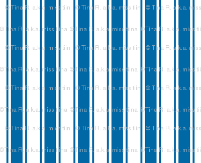 ticking stripes blue and white
