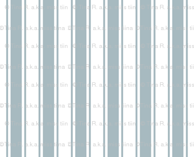 ticking stripes slate blue and white