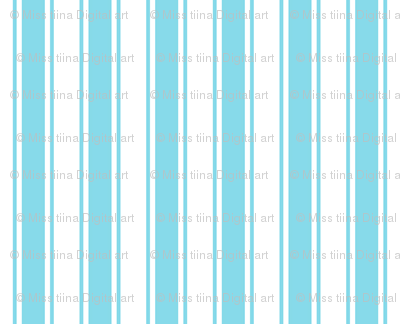 ticking stripes sky blue
