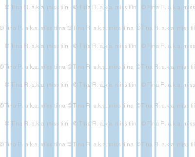ticking stripes powder blue and white