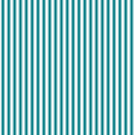 ticking stripes dark teal and white