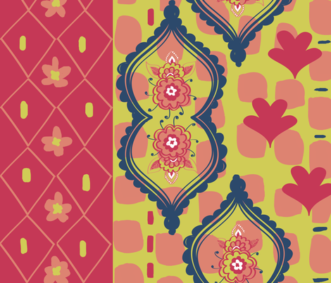 Garden Party fabric by fable_design on Spoonflower - custom fabric