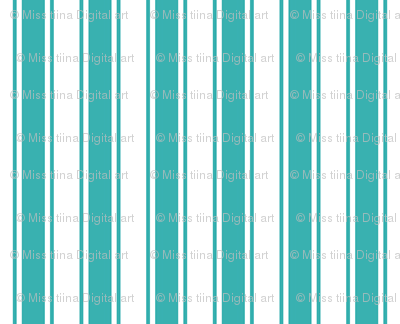 ticking stripes teal