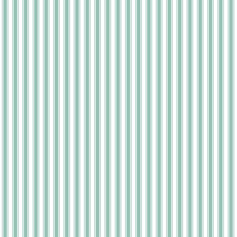 ticking stripes faded teal and white fabric by misstiina on Spoonflower - custom fabric