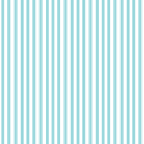 ticking stripes teal and white fabric by misstiina on Spoonflower - custom fabric