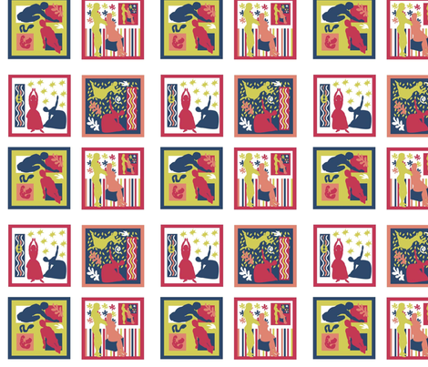 Matisse fabric by almost_vintage on Spoonflower - custom fabric