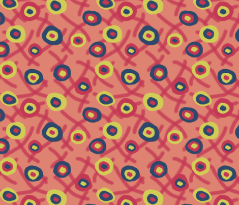 Floating Circles a la Matisse fabric by fernlesliestudio on Spoonflower - custom fabric