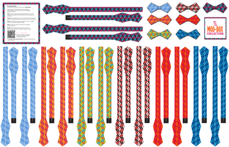 Mod Boxes - Cut & Sew 7 Bow Ties fabric by lavaguy on Spoonflower - custom fabric